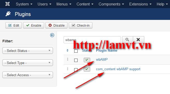 Hướng dẫn cài đặt Google AMP HTML Joomla Plugin 2016-02-28_172933