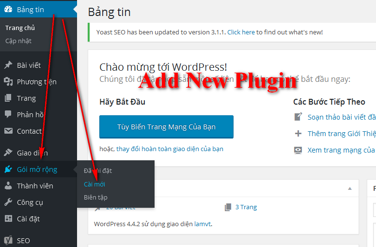 Cách cài đặt plugin Custom Accelerated Mobile Pages (AMP) cho WordPress 2016-03-10_140445