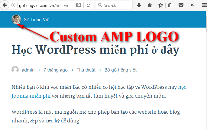 Cách cài đặt plugin Custom Accelerated Mobile Pages (AMP) cho WordPress 2016-03-10_141914