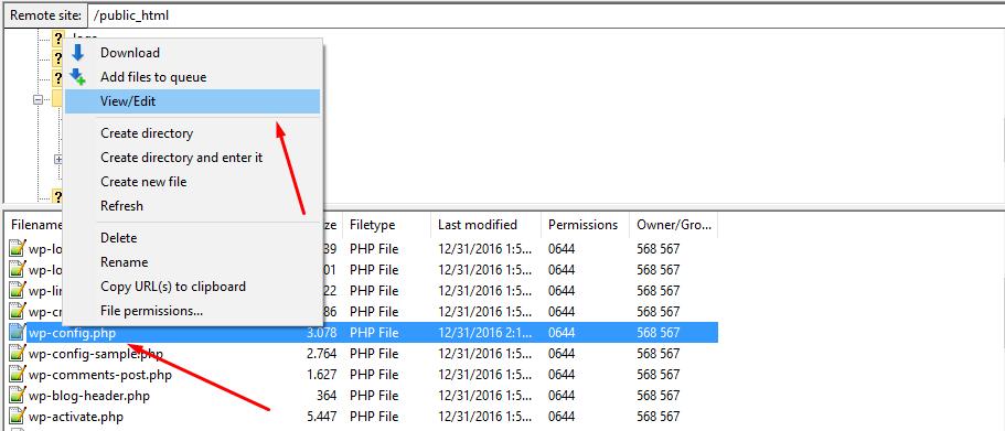 Cách chuyển website wordpress từ localhost lên host b6-01