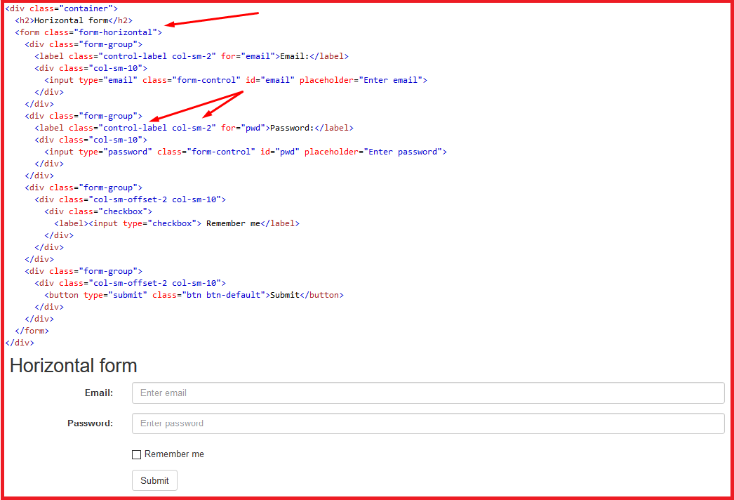 Bootstrap Form – Biểu mẫu Bootstrap 6