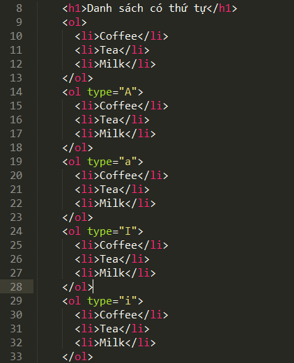 Danh sách trong HTML (ul, ol) vi-du-danh-sach-co-thu-tu-trong-html