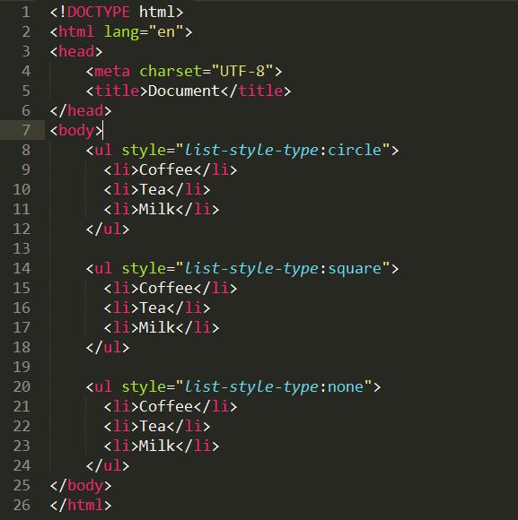 Danh sách trong HTML (ul, ol) vi-du-danh-sach-khong-co-thu-tu-trong-html