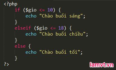 Câu lệnh điều khiển trong PHP if_else_example2