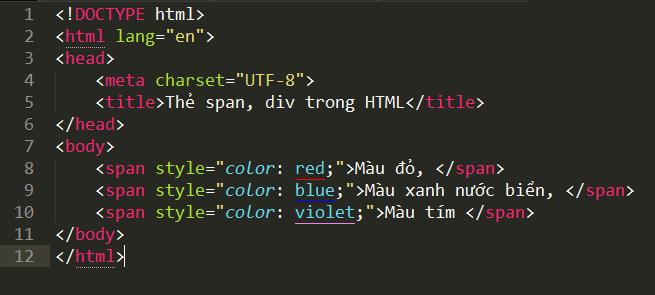 Thẻ span và thẻ div trong HTML the-span-trong-html