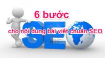 6 bước cho nội dung bài viết chuẩn SEO