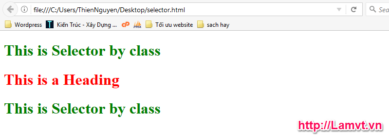 Vùng chọn trong CSS (CSS Selector) kq-selector-by-class