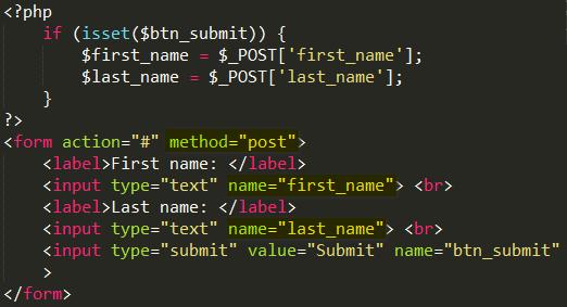 Phương thức GET và POST trong PHP post_method