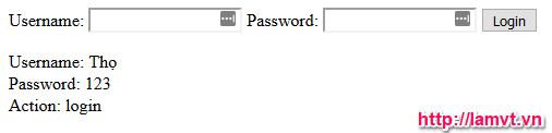 Thao tác với dữ liệu trên form result
