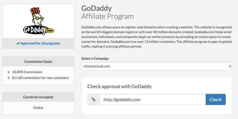 Cách đăng ký chương trình Affiliate của GoDaddy 4