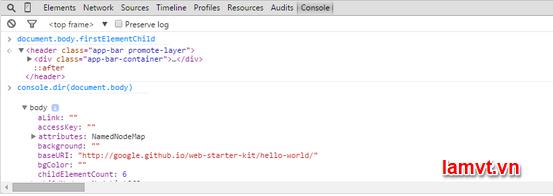 Chrome Developer Tools: Kỹ năng quan trọng cho Front-End Developer console