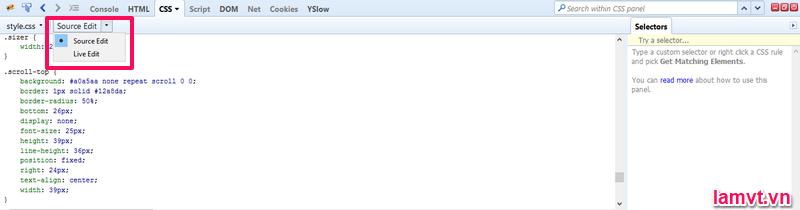 Firebug là gì? Sử dụng nó như thế nào cho Web developer? source-edit