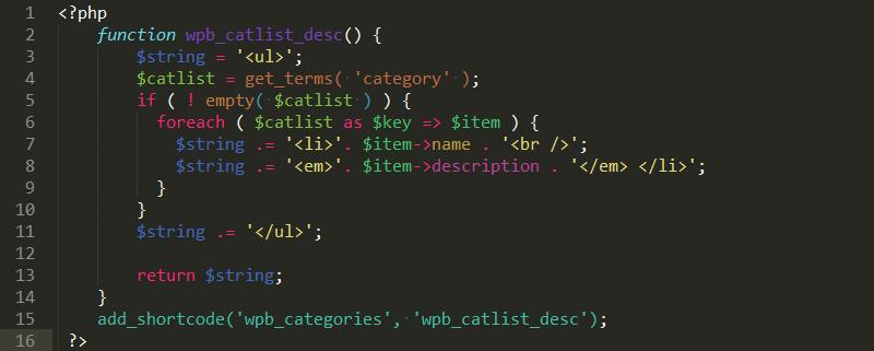 101 cách hiển thị mô tả danh mục trong Wordpress categorydescription6