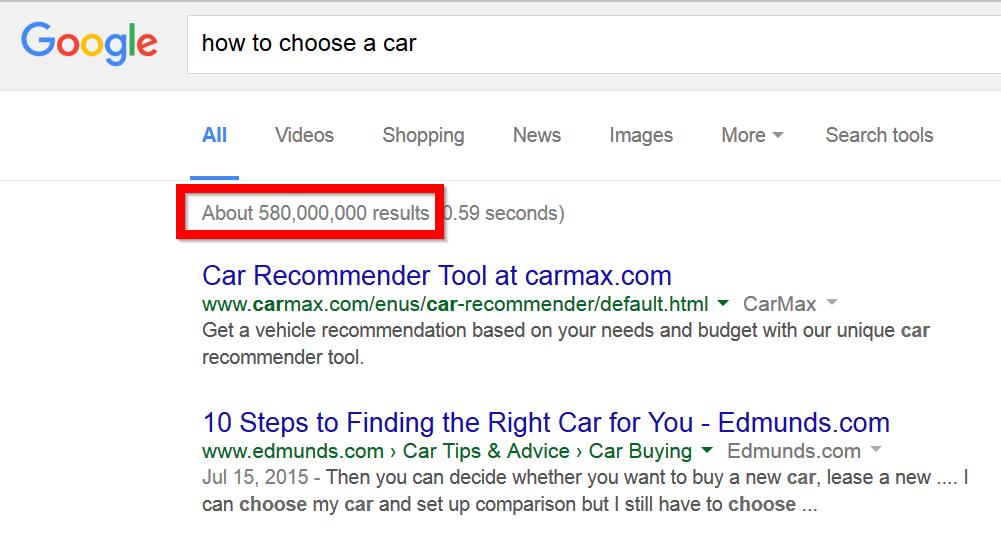 Top 21 Kỹ thuật SEO Chưa bao giờ lỗi thời google-number-of-results