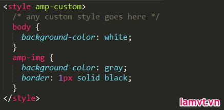 AMP HTML là gì? Cách tạo trang AMP cho người mới bắt đầu style_amp