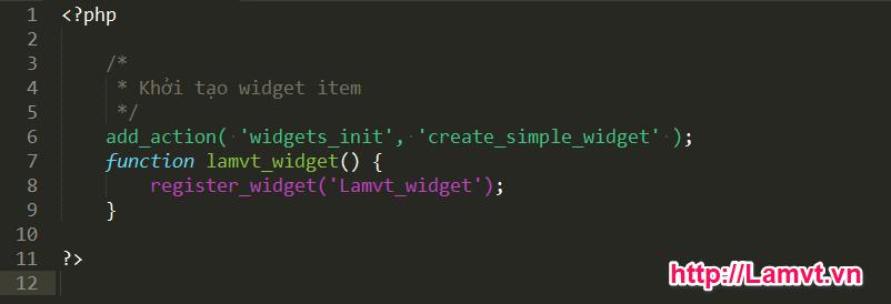 Hướng dẫn tạo Widget đơn giản qua 6 bước trong WordPress 6-buoc-de-tao-1-widget-don-gian-trong-wordpress-1
