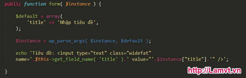 Hướng dẫn tạo Widget đơn giản qua 6 bước trong WordPress 6-buoc-de-tao-1-widget-don-gian-trong-wordpress-5