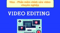 wax- free video editing software