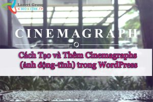 Cinemagraph in wordpress