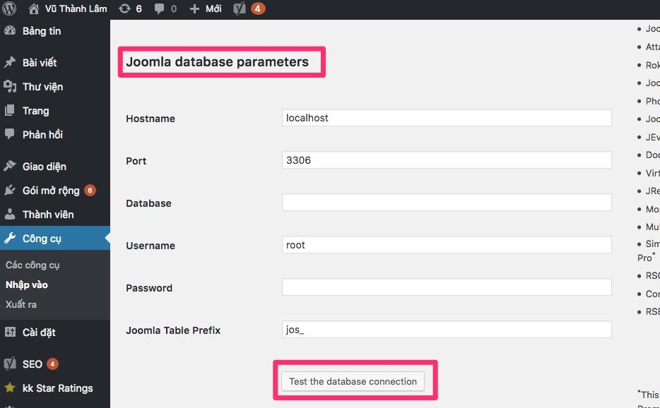 Cách Chuyển Joomla Sang WordPress giữ SEO và Link joomla-database-sang-wordpress