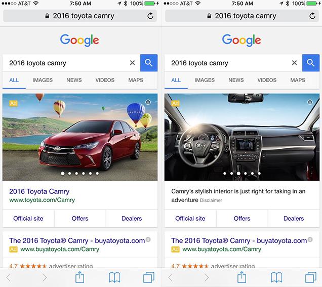 Google thay thế Quảng cáo bằng Google Carousel cho tìm kiếm Ô tô 2016-04-03_110127