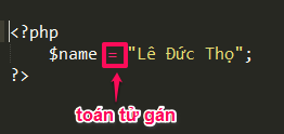 Toán tử trong PHP assign-operator