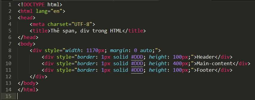 Thẻ span và thẻ div trong HTML the-div-trong-html