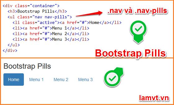 Bootstrap Tabs và Pills 04