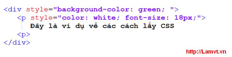 Cú pháp CSS (Syntax CSS) inline-css-a
