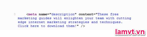Tối ưu hóa mã nguồn Code Web cho SEO meta-description