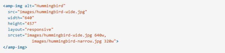 Cách định dạng và bố cục trang AMP HTML img_responsive