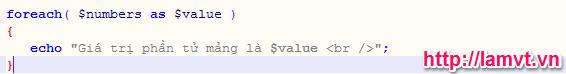 Mảng và các hàm hỗ trợ mảng trong PHP phần 1 (PHP Arrays) in-gia-tri