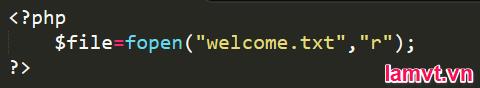 Cách xử lý lỗi trong PHP open_file