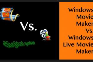 window movie maker vs window live maker