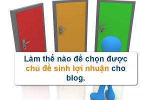 chon topic cho blog