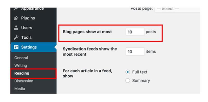 55+ Mẹo và thủ thuật cực hay trong WordPress Change-Number-of-Posts