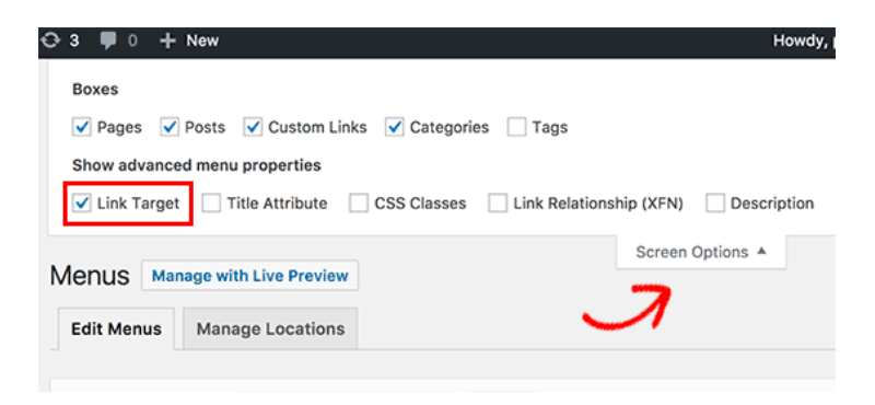 55+ Mẹo và thủ thuật cực hay trong WordPress Open-Navigation-Menu-Link