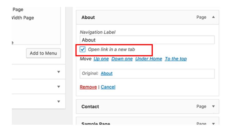 55+ Mẹo và thủ thuật cực hay trong WordPress Open-Navigation-Menu-Link2