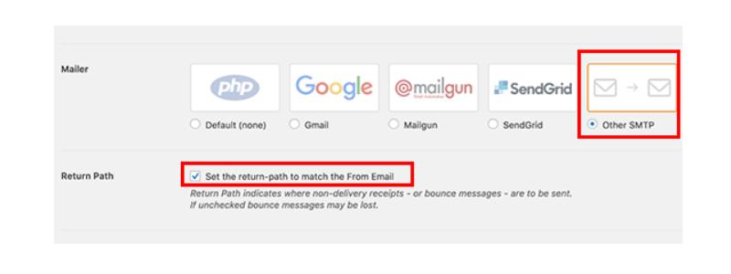 Cách gửi Email Wordpress dùng SMTP Server? return-path