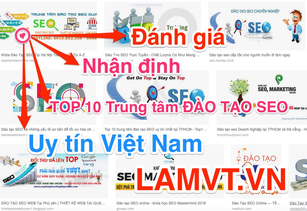 Đào tạo SEO Top 10 Chuyên Gia bạn Nên học ở Hà Nội, HCM, Đà Nẵng, Hải Phòng năm 2019 dao-tao-seo