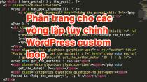 Phân trang cho các vòng lặp tùy chỉnh WordPress custom loop