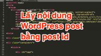 Lấy nội dung WordPress post bằng post id
