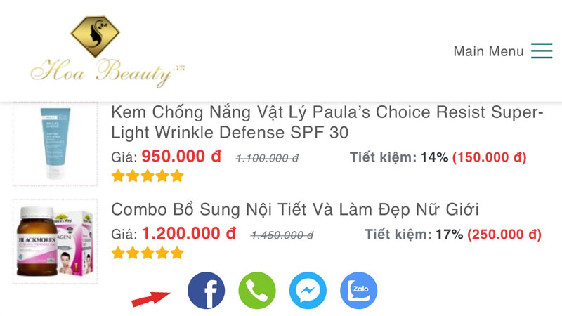 Thiết Kế Website Bán Hàng CHUẨN SEO PAGE SPEED 100: HOABEAUTY.VN hoabeauty-lamvt-15